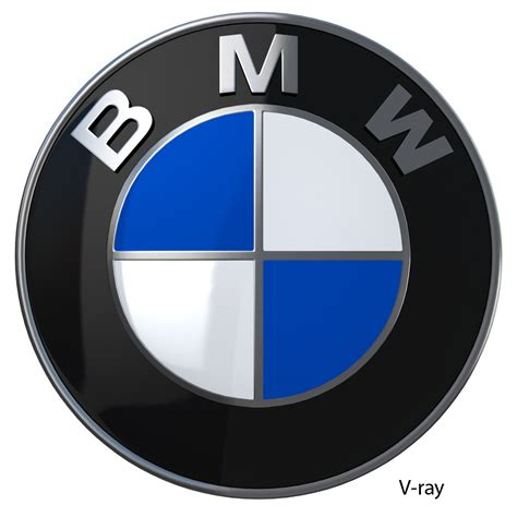 bmw logo bmw logo 3d model game ready max cgtrader com
