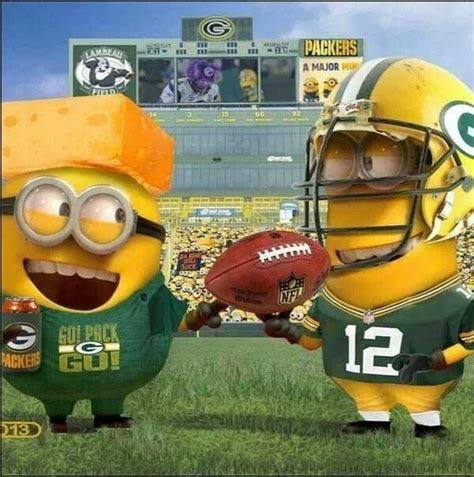 Green Bay Packer Memes - minion packers via green bay packers memes on facebook the frozen tundra pinterest