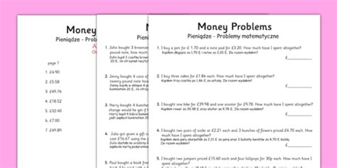 money word problems polish translation polish money word problems word