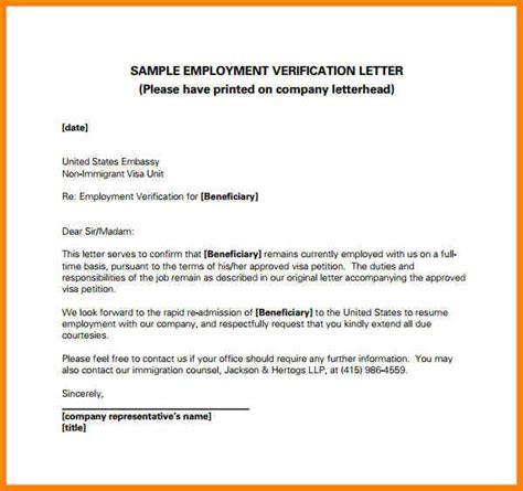 employment verification letter  template business