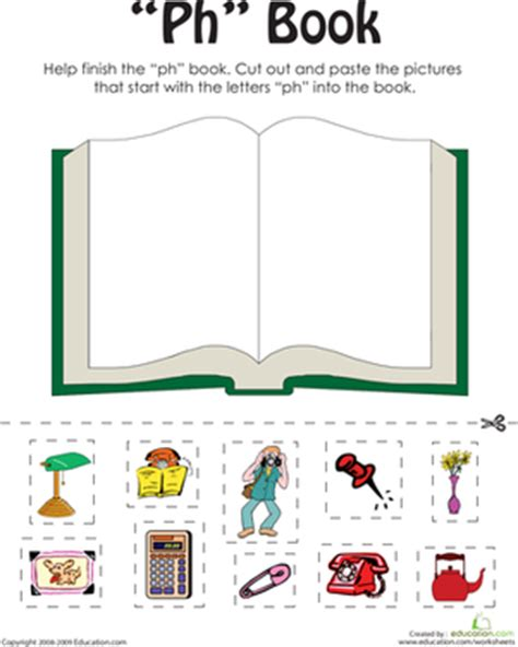 quot ph quot words a word family book worksheet education