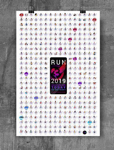 2018 printable running log running calendar fillable running from printable running printable running calendar uploaded by kathleen richardson on tuesday, june 26th, 2018. 2019 Runner's Visual Calendar #eBibs #RunningHumor # ...