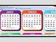 Base de Calendários 2018 para Baixar Grátis YouTube