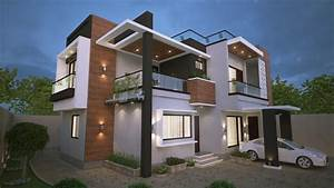 Modern Exterior Design Of The House 3d Visualization And