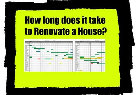 How Long Does It Take To Do A House Renovation? Home