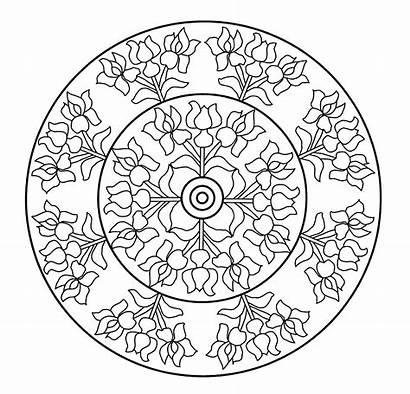 Mandala Mandalas Flores Colorear Pintar Berenguer Casa