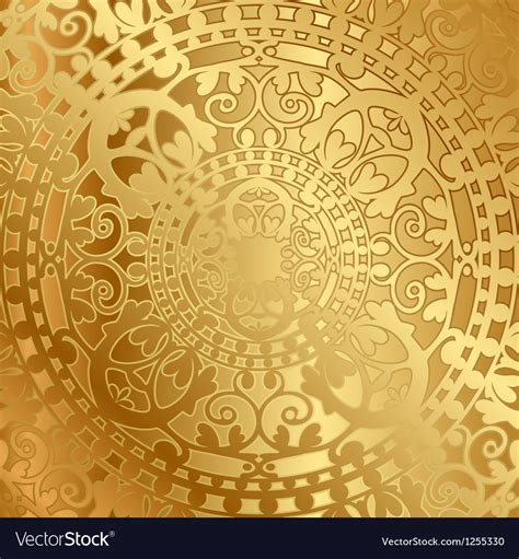 Gold Backgrounds Gold Background With Decoration Vector Image