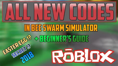 All New Codes In Bee Swarm Simulator