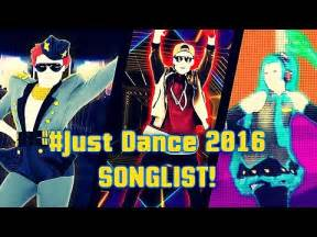Just Dance Official Song List 2016