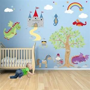 la peinture chambre bebe 70 idees sympas With dessin mural chambre fille