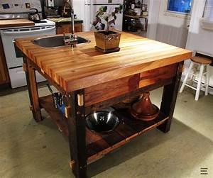Table De Cuisine En Bois : ilot cuisine en bois le bois chez vous ~ Teatrodelosmanantiales.com Idées de Décoration