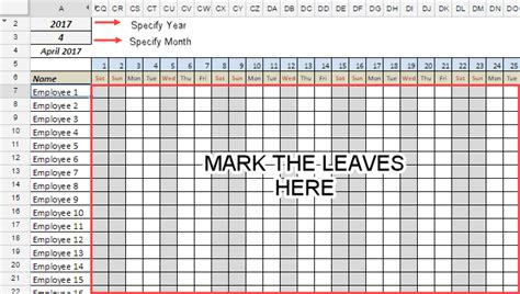 employee student leave tracker template  google