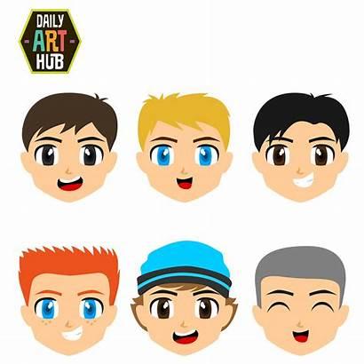 Faces Boys Clip Clipart Cartoons Dailyarthub