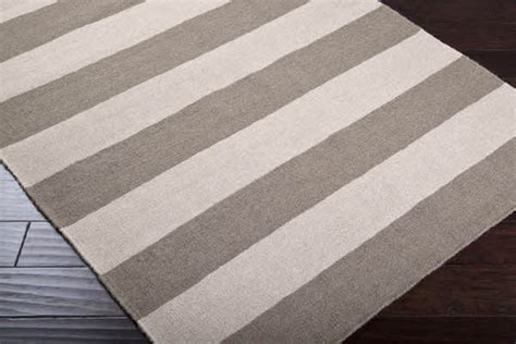 Surya Carpets by Gray And Ivory Striped Rug Beach Style Rugs By Rugs