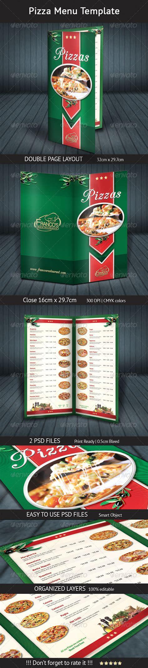 pizza menu template  mograsol graphicriver
