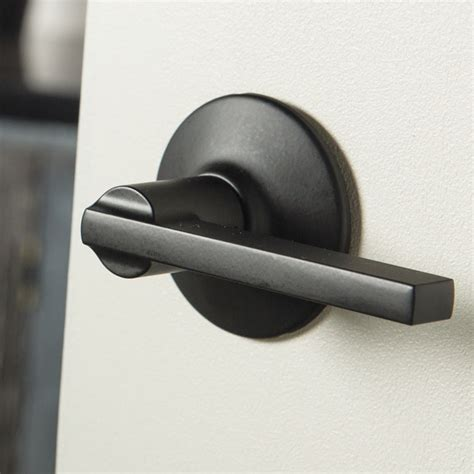 matte black door handles schlage plymouth style privacy latitude lever in matte
