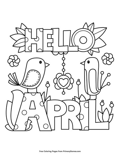 Permalink to April Coloring Pages