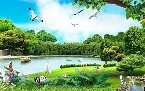 Beautiful Summer day by Lake HD wallpaper