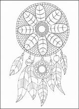Native American Coloring Printable Dream Designs Pages Catcher Printablee sketch template