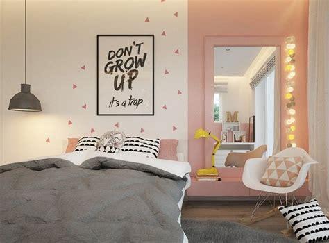chambre ado fille 16 ans moderne déco murale chambre enfant papier peint stickers peinture