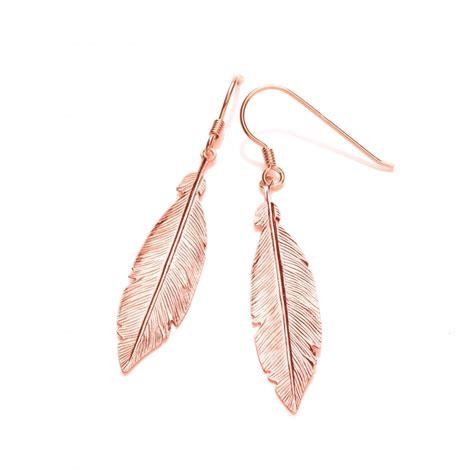 925 silver earrings sterling silver gold feather drop earrings by david