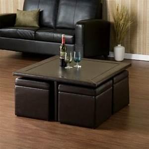 Table Basse Pouf Intégré : la table basse avec pouf pour un style de vie moderne ~ Dallasstarsshop.com Idées de Décoration