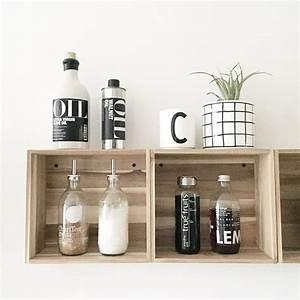 Ikea Regal Wandregal : wandregal ikea hack skogsta holzkisten regale shelves pinterest ~ Eleganceandgraceweddings.com Haus und Dekorationen