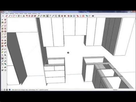 perspective cuisine dessin fusion 3d sketchup logiciel de cuisine pro gratuit