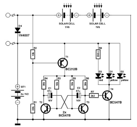 Flasher With Led High Intensity Circuit Diagram