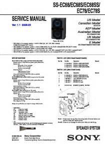 Sony Mhc-ec68  Mhc-ec78 Service Manual