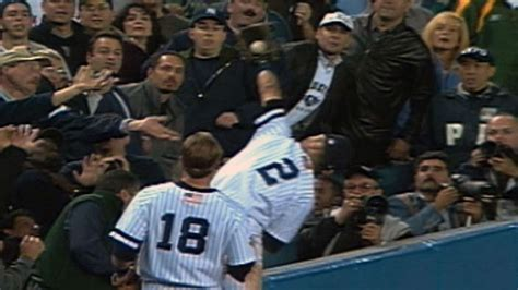 Derek Jeter Stands Catch by Alds Gm5 Jeter Flips Into The Stands On Amazing Catch
