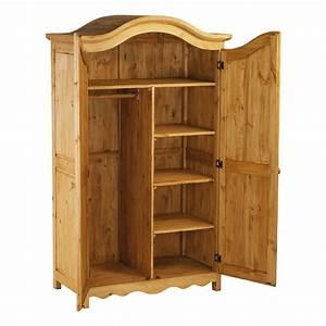 Armoire En Pin Massif : armoire en pin massif 2 portes mooviin ~ Teatrodelosmanantiales.com Idées de Décoration