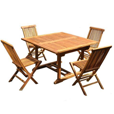 salon de jardin teck huile salon de jardin en bois de teck huil 233 4 8 pers table rect larg 100cm 4 chaises