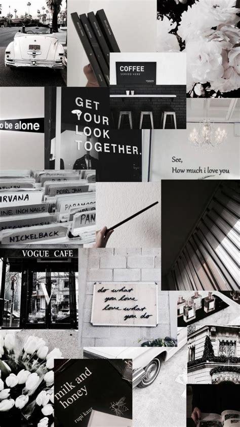 poster aesthetic hitam putih