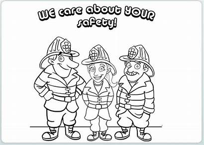 Safety Coloring Fire Pages Drawing Safe Care