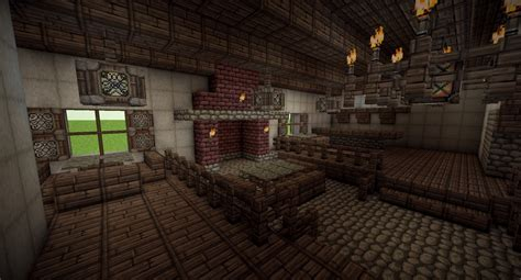 Fireplace Designs Minecraft by Medieval Tavern With Full Interior Minecraft Project