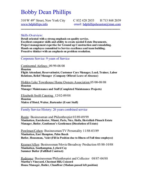 A Complete Resume by Resume Chronological Complete