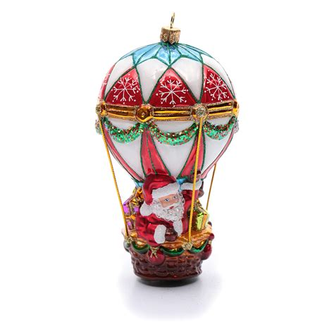 blown glass christmas ornament santa claus  hot air