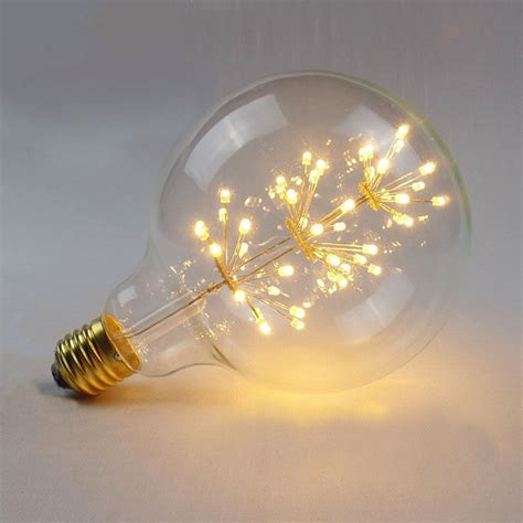 large fireworks led light e27 edison vintage filament bulb