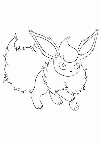 Pokemon Flareon Coloring Coloriage Bulbasaur Coloriages Generation