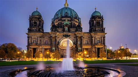 full hd wallpaper cathedral berlin fountain berlin