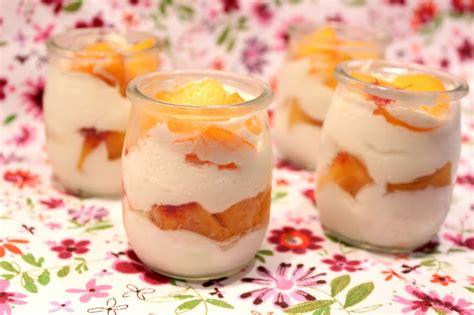 cuisiner le mascarpone mousse glacée aux pêches et mascarpone pour ceux qui aiment cuisiner
