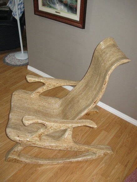 glued  laminated sculpted osb cole inspired rocker