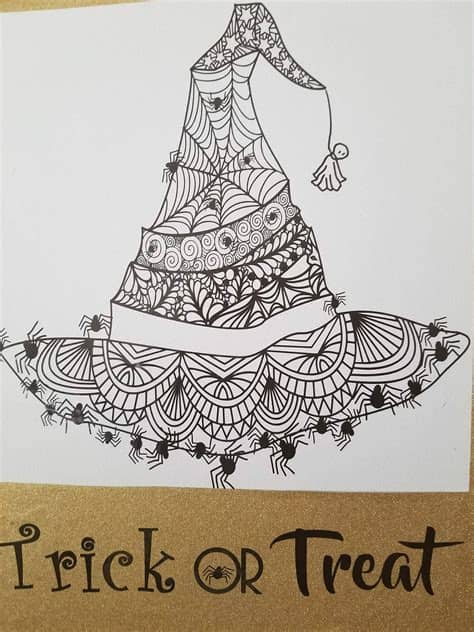 Zentangle heart svg cut file in png, svg, eps, and dxf cutting file format. Zentangle Spider Witch Hat for Halloween SVG   Etsy