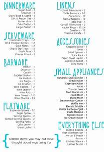 Tackling the gift registry wedding wedding registry for Wedding gift registry ideas