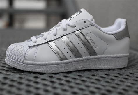 adidas white superstar slip adidas superstar w shoes white silver weare shop