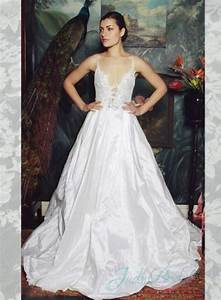 sexy plunging low back ball gown wedding dress 2342847 With plunge wedding dress