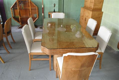 deco dining table and chairs for sale uk swedish deco shell armchair with fluted