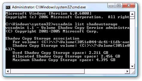 reduce system restore s disk usage in vista