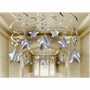 Deko Gold Silber : 30 tlg sternen girlanden silber party deko spiralen silvester deckenh nger weihnachten ~ Sanjose-hotels-ca.com Haus und Dekorationen